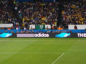 A Fifa mandou retirar todas as bandeiras durante o jogo