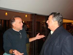 O companheiro Jaeci Carvalho adora discutir arbitragem com o Arnaldo César Coelho