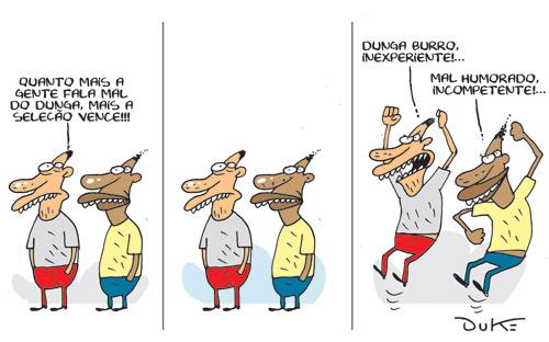 Charge de hoje do sempre excelente Duke no Jornal O Tempo.