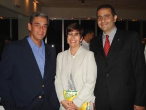 Alberto Blaser (esq.), Raquel e Alberto Salum