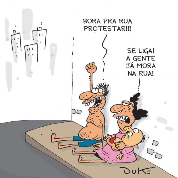 Resultado de imagem para manifestação das ruas charge