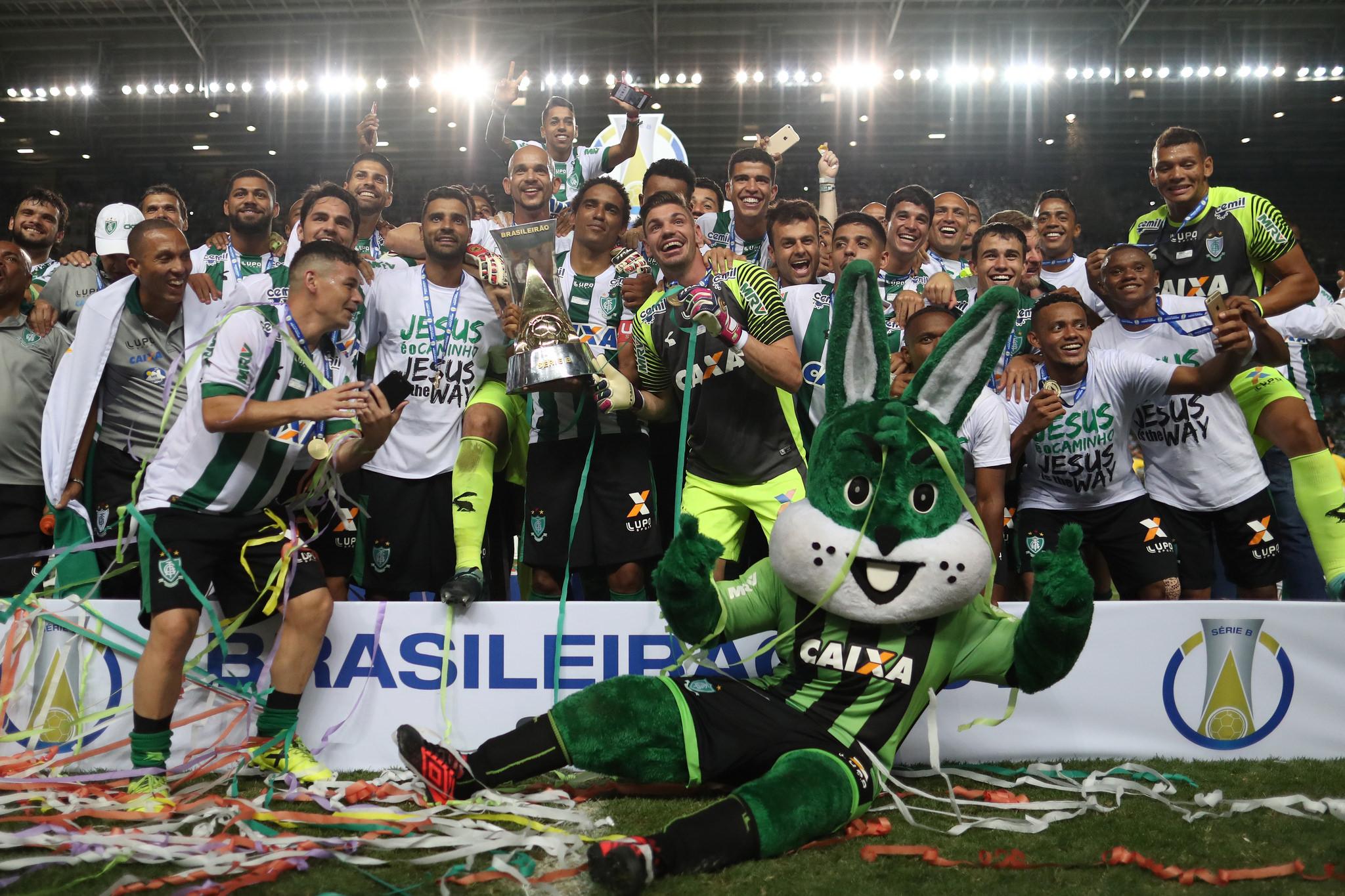 América MG x CRB pela última rodada do Campeonato Brasileiro Série B. América campeão . Lucas Figueiredo/CBF